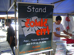 Stand do Comic City no Centro de Campinas